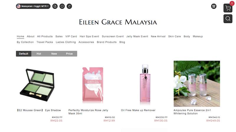 Eileen Grace Malaysia官網